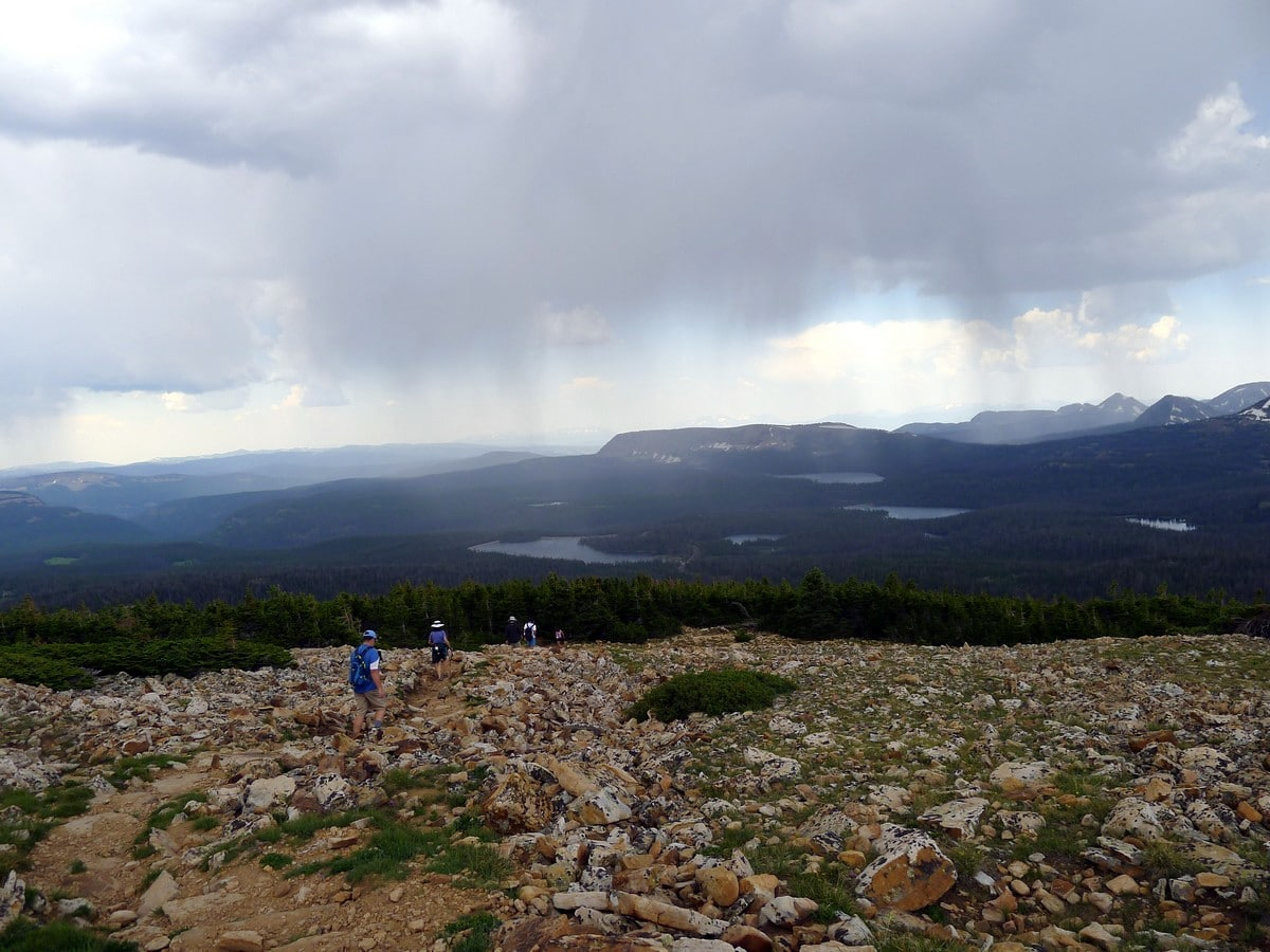 Descending views from the Bald Mountain hike in the Uinta Mountains, Utah