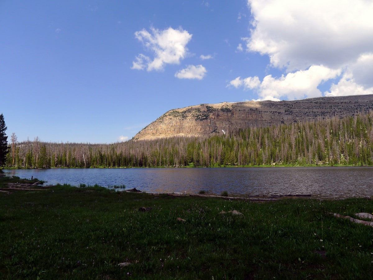 The views of the Haystack Lake hike in the Uinta Mountains, Utah