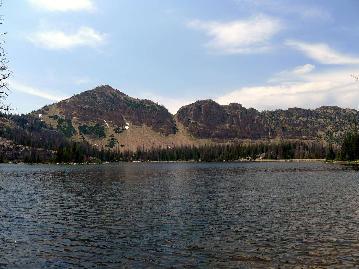 Notch Mountain on the Notch Lake hike in the Uinta Mountains, Utah