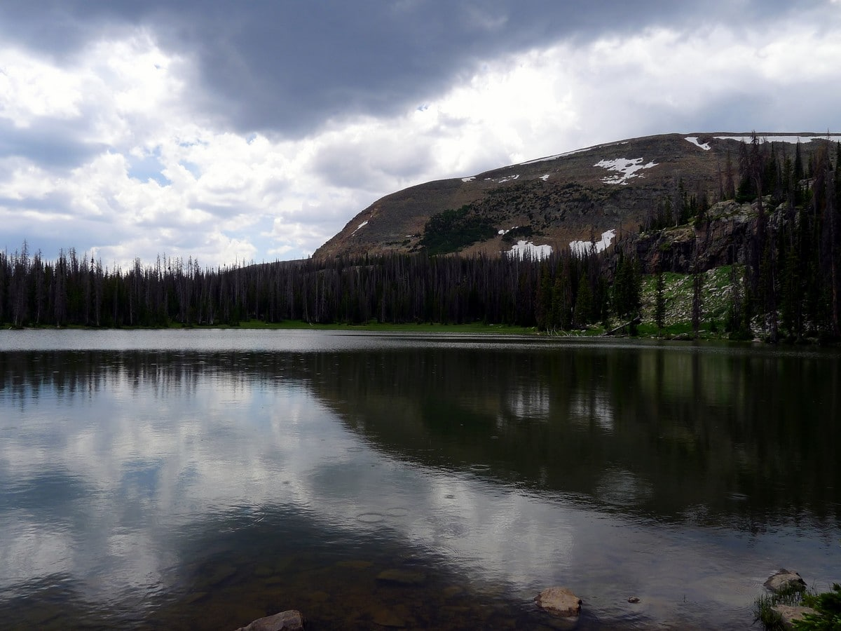 The Murdock Mountain from the Fehr Lake hike in the Uinta Mountains, Utah