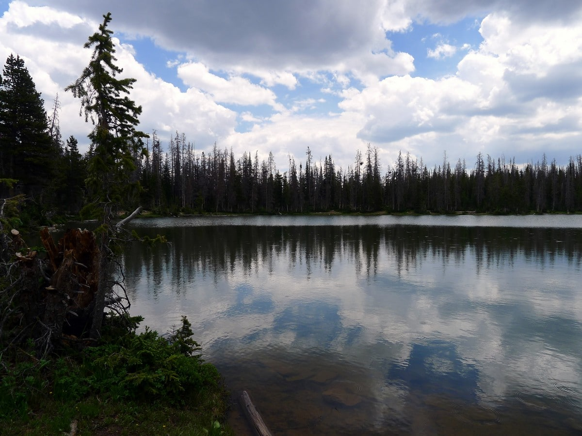 The views of the Fehr Lake hike in the Uinta Mountains, Utah