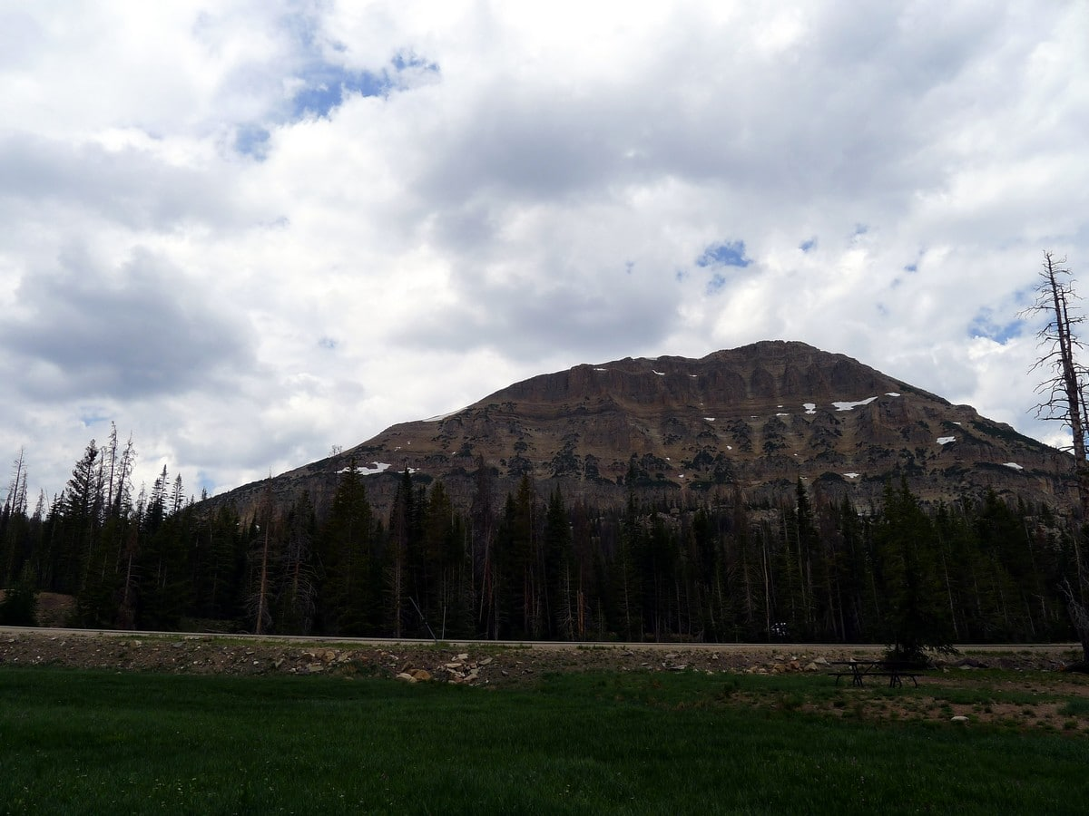 The Bald Mountain from the Fehr Lake hike in the Uinta Mountains, Utah