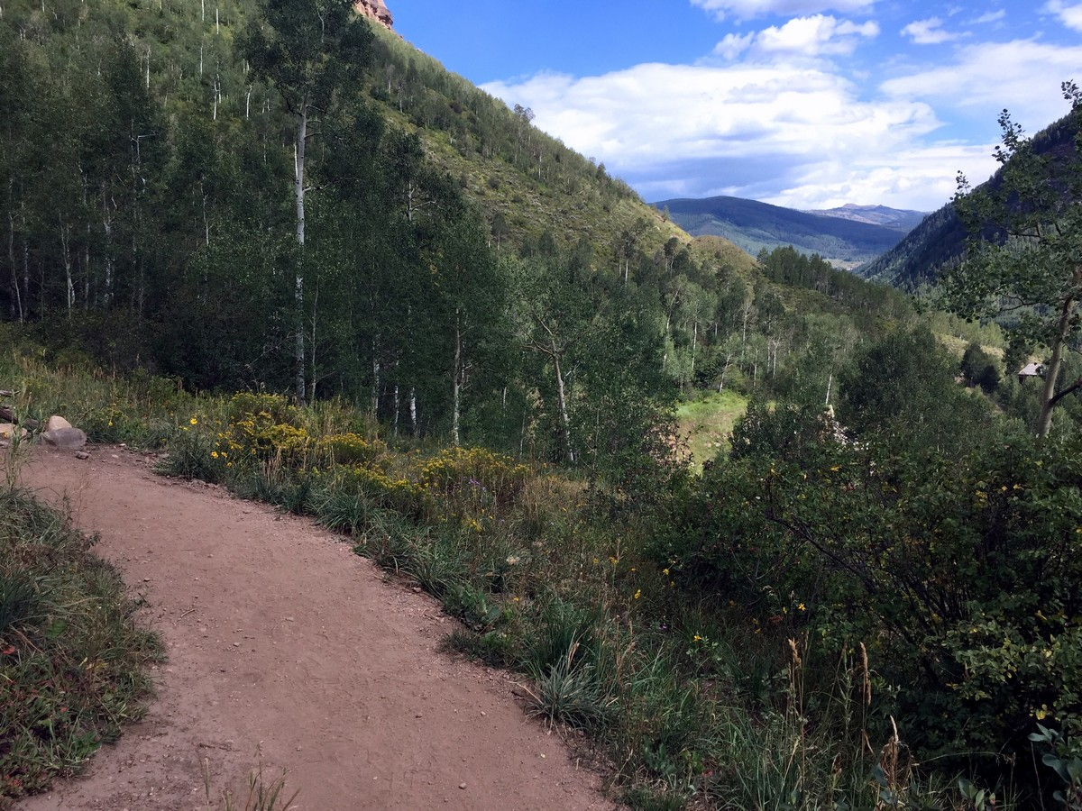 Booth Falls hike in Vail has some of the best views in Colorado