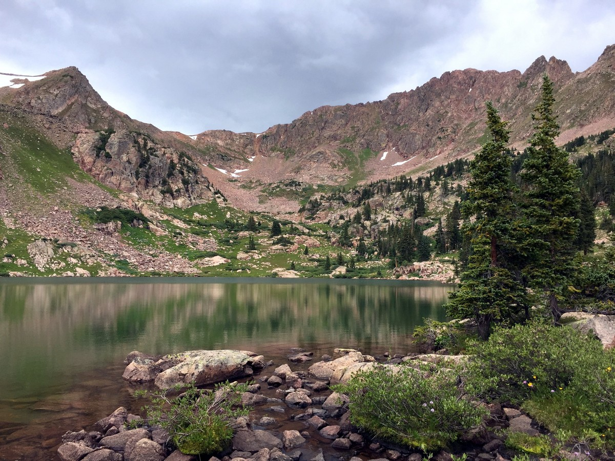 Looking northeast on the Gore Lake Trail Hike near Vail, Colorado