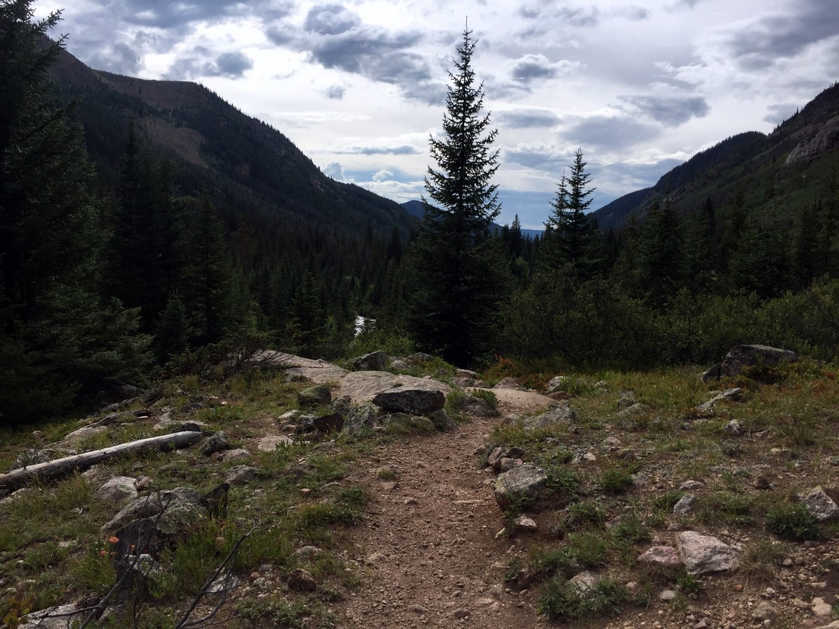 View of the valley on the Gore Lake Trail Hike near Vail, Colorado