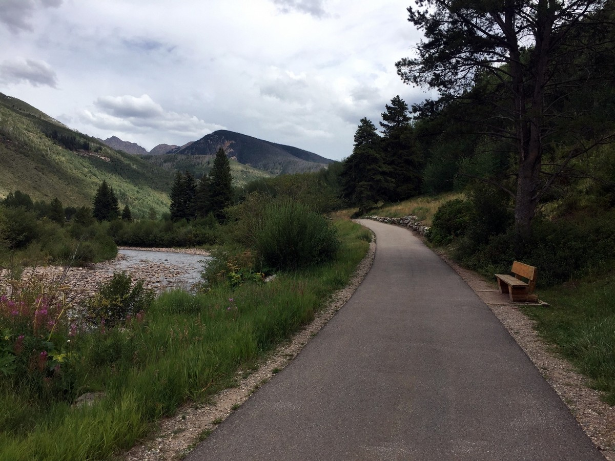 Gore Valley Trail Hike in Vail has beautiful views