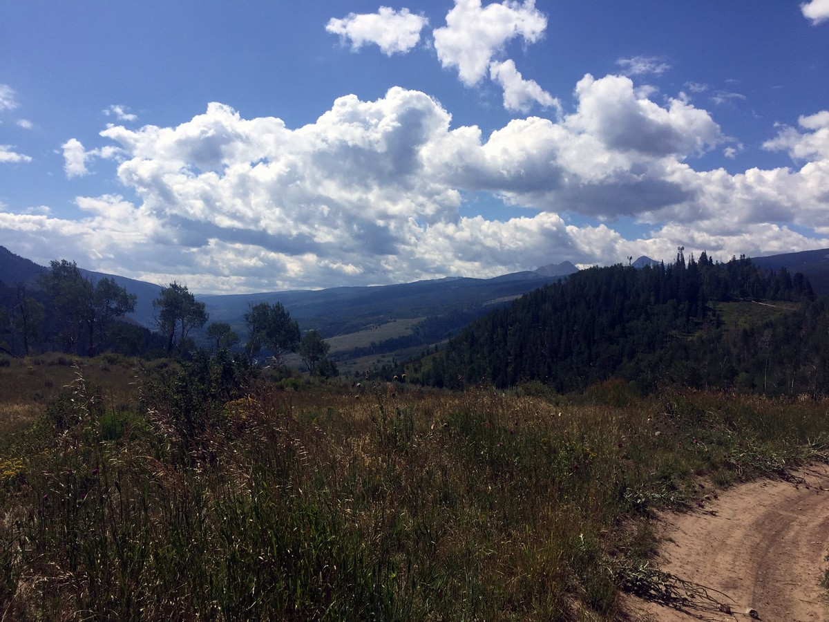 View looking west on the Davos Trail Hike near Vail, Colorado