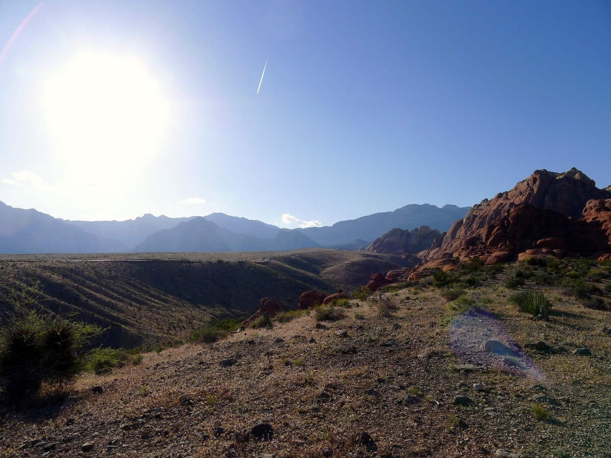 Panorama from the Calico Hills Loop Hike in Red Rock Canyon near Las Vegas
