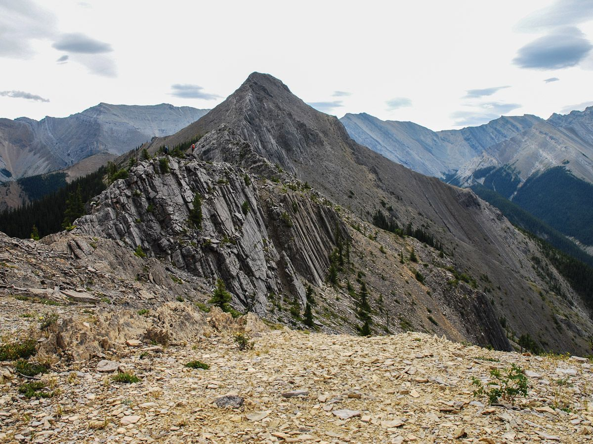 Mountain views from the Wasootch Ridge Hike in Kananaskis, near Canmore