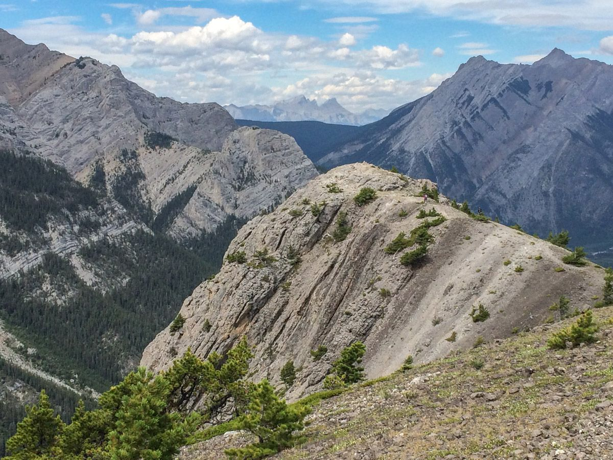 Mountains from the Wasootch Ridge Hike in Kananaskis, near Canmore