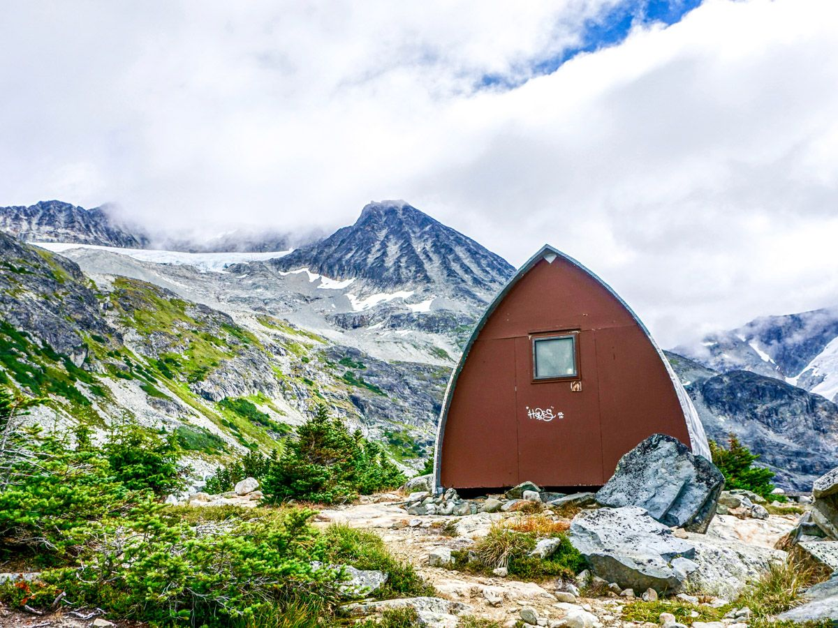 Small cabin on the Wedgemount Lake Hike in Whistler, Canada