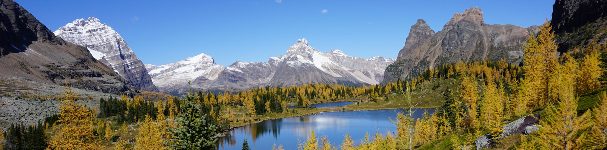 Panoramic view from All Souls Route in Yoho National Park