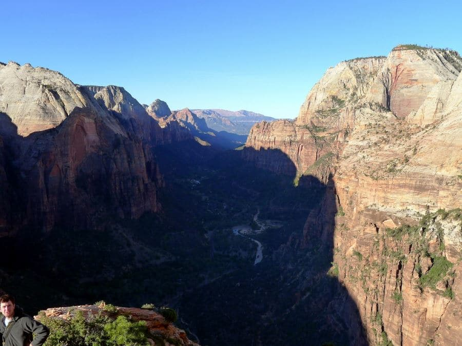 The classic view out of the canyon