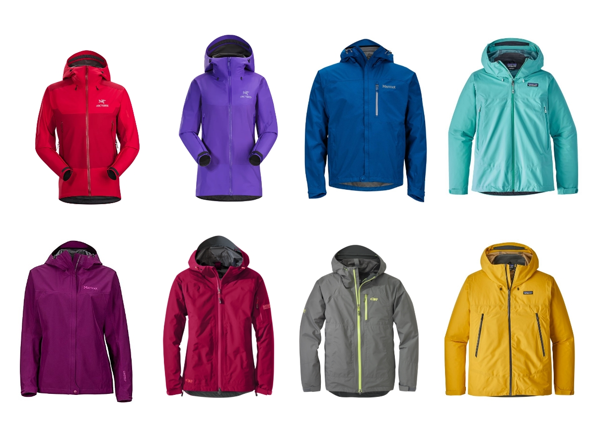 Best Hiking Rain Coats of different colours