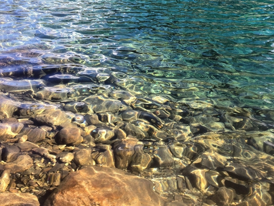 Clear Egypt Lake water near one of best backcountry campgrounds in Banff National Park