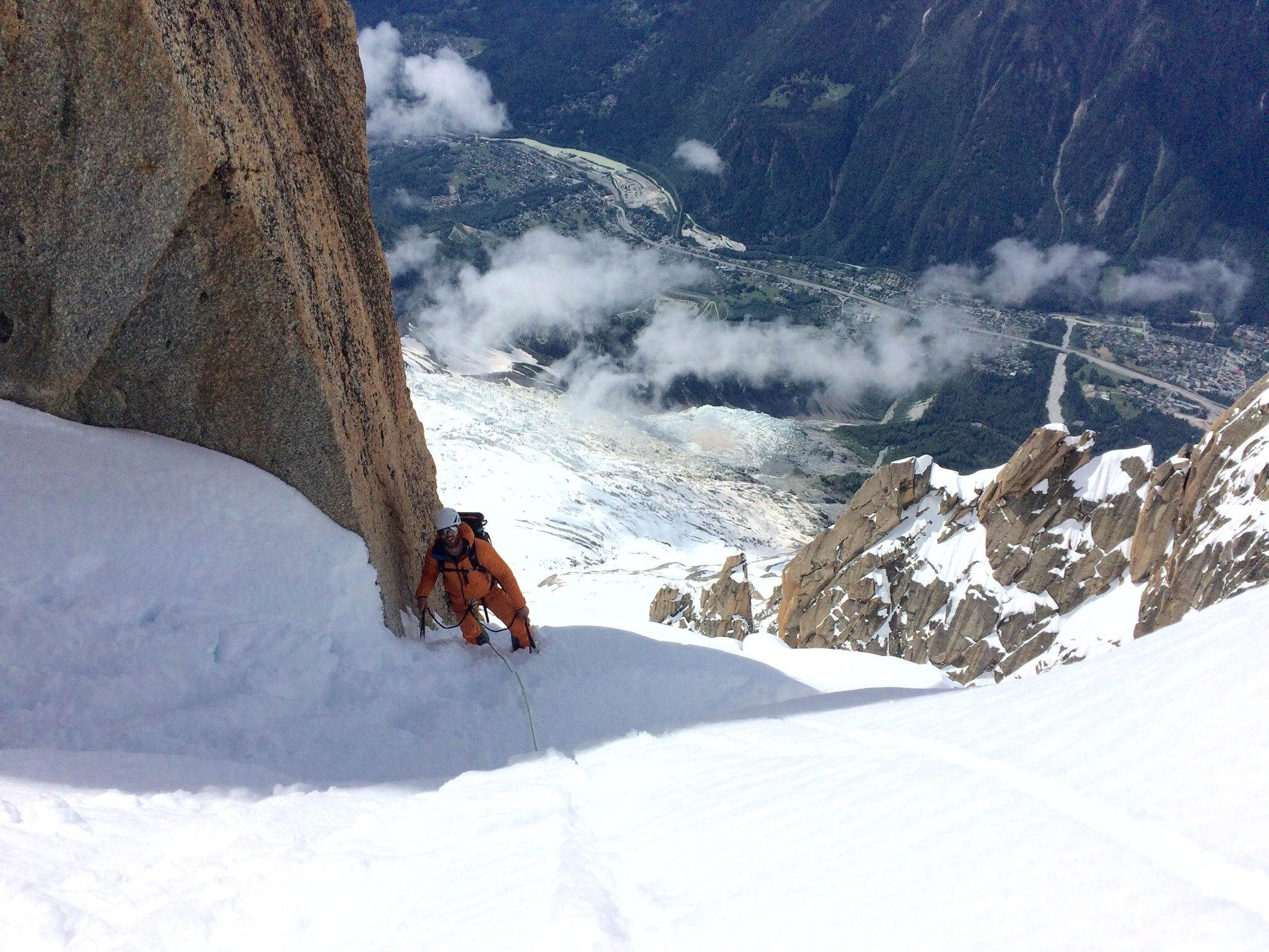 Mark Milburn climbing in Chamonix