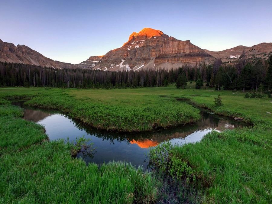 Sunrise on the Uinta Mountains hike in Utah