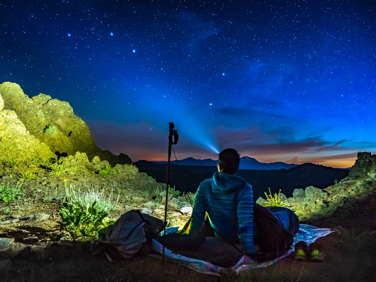 Camping under stars on the Pacific Crest Trail