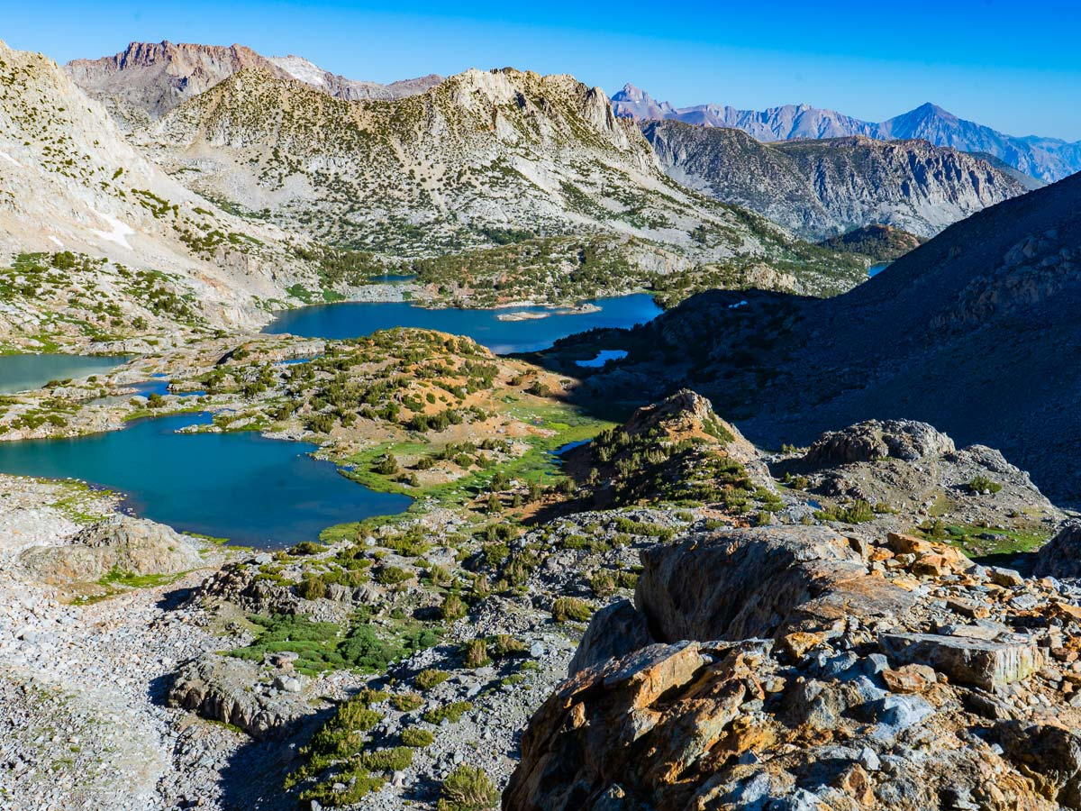Alpine lakes along the hike on the Pacific Crest Trail
