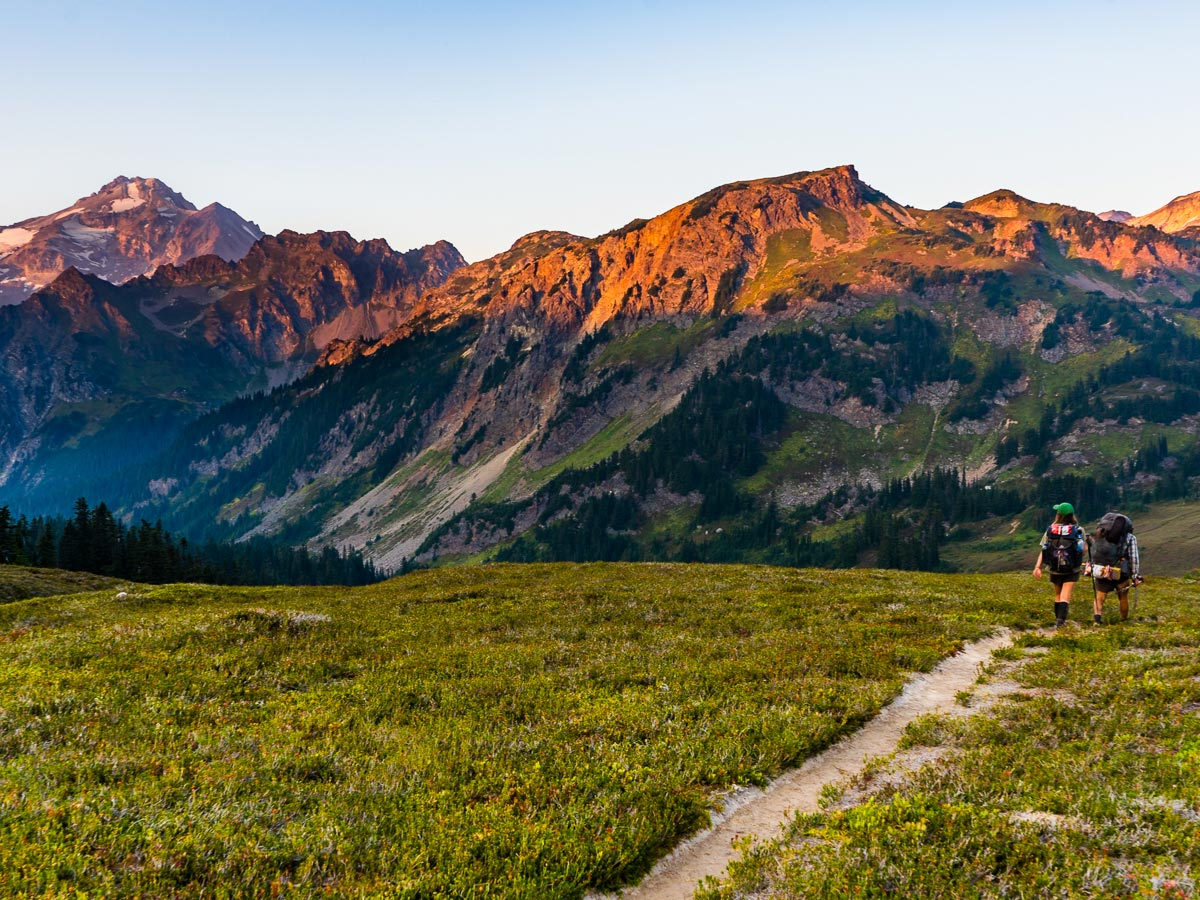 Alpine Glow Peaks on the Pacific Crest Trail