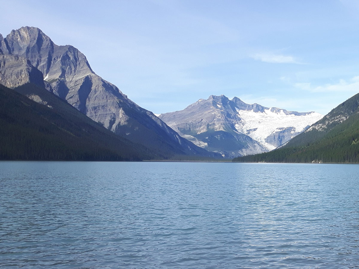 Scenery from Glacier Lake Backpacking trail in Banff National Park