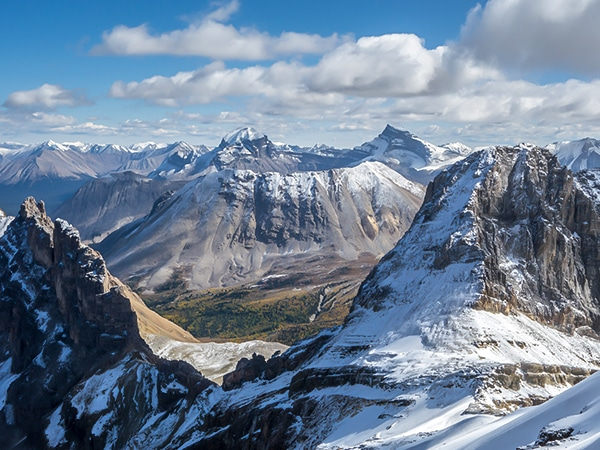 Scenery from Mount Richardson scramble in Banff National Park