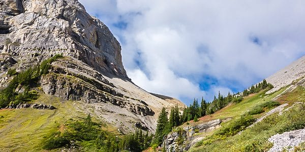 Scenery from Mount Bourgeau scramble in Banff National Park