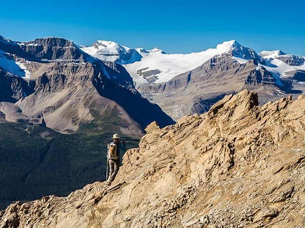 Scenery from Observation Peak scramble in Banff National Park