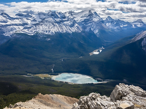 Scenery from Paget Peak scramble in Banff National Park