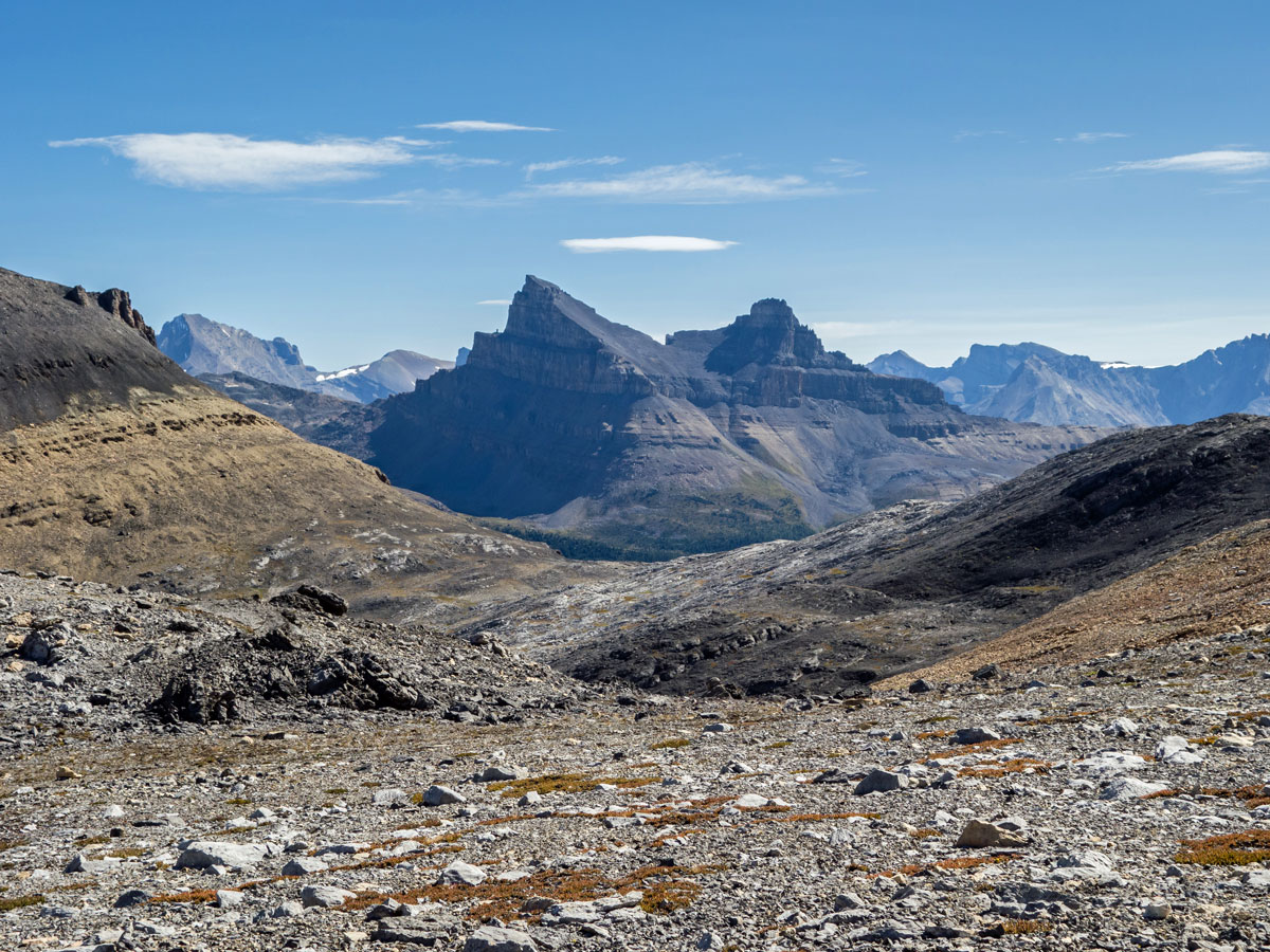 Molar Mountain from Little Hector scramble in Banff National Park