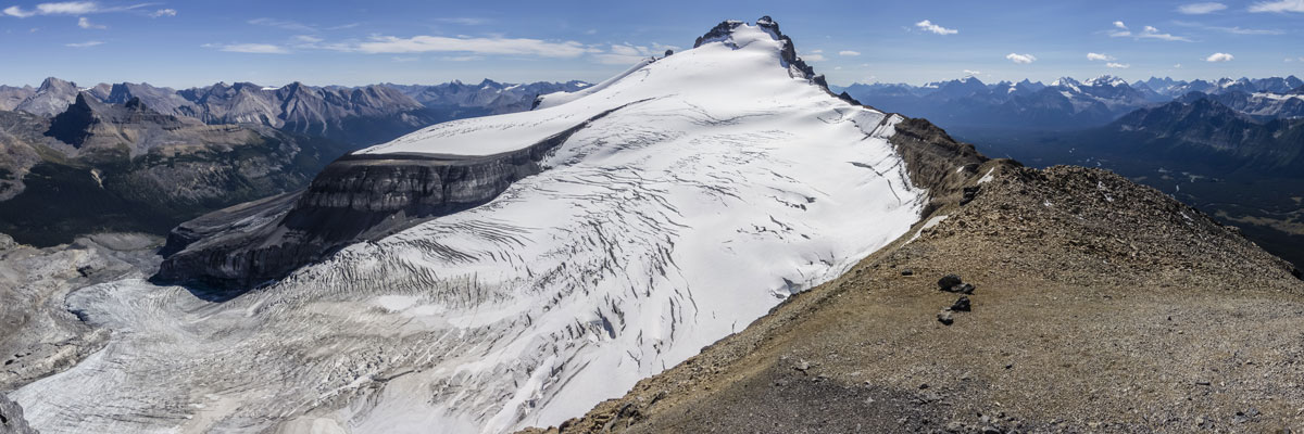 Summit view from Little Hector scramble in Banff National Park