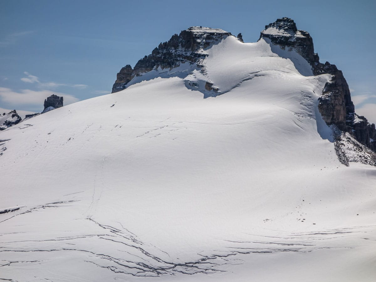 Summit of Mount Hector as seen from Little Hector scramble in Banff National Park
