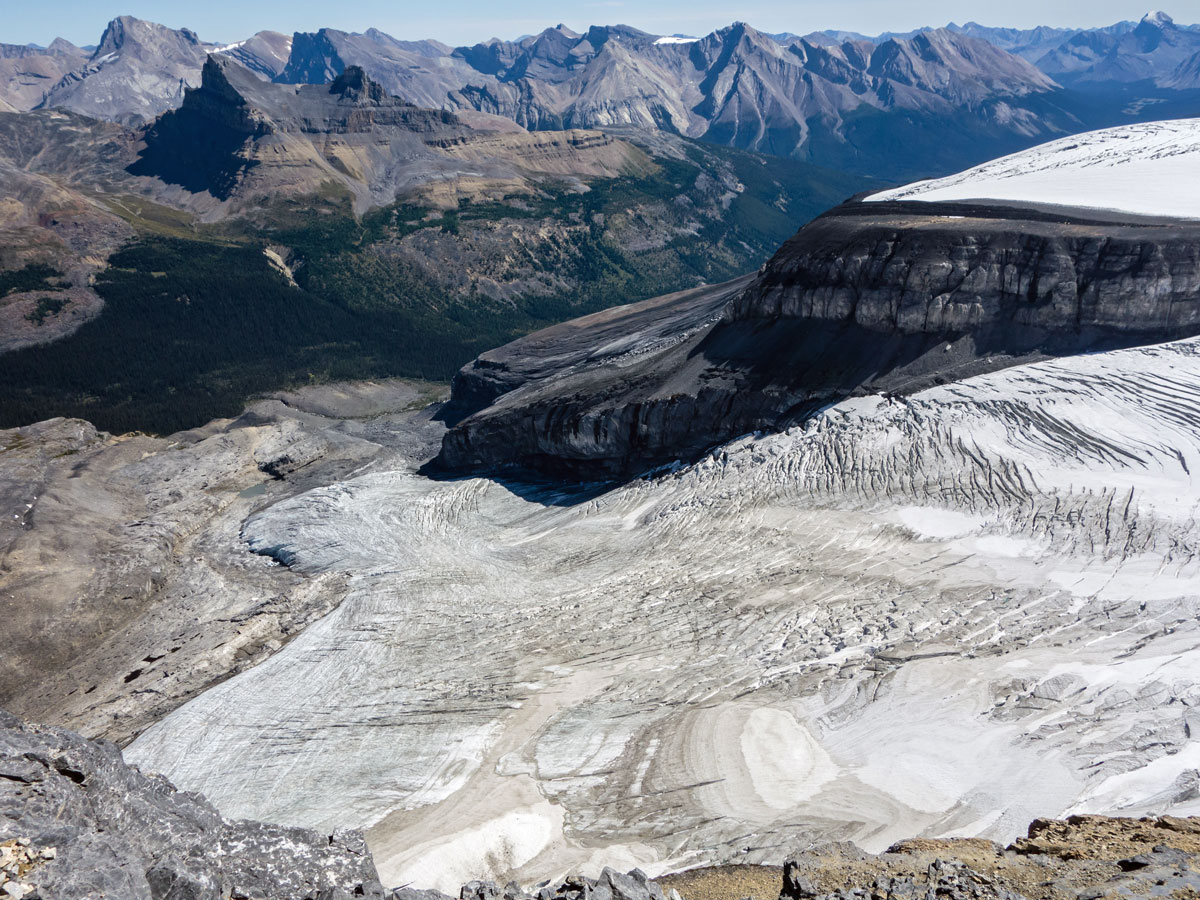 Hector Glacier on Little Hector scramble in Banff National Park