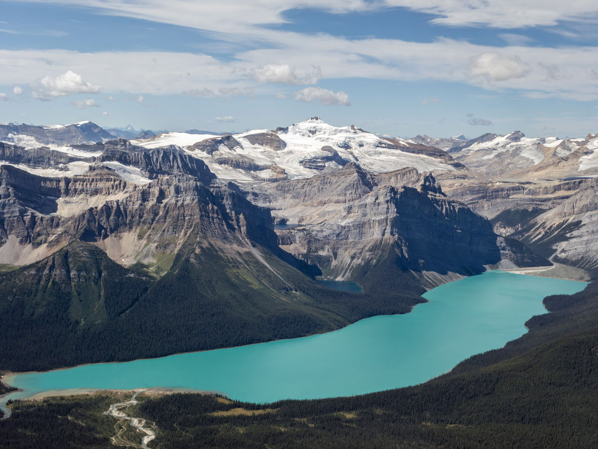 View west from Little Hector scramble in Banff National Park