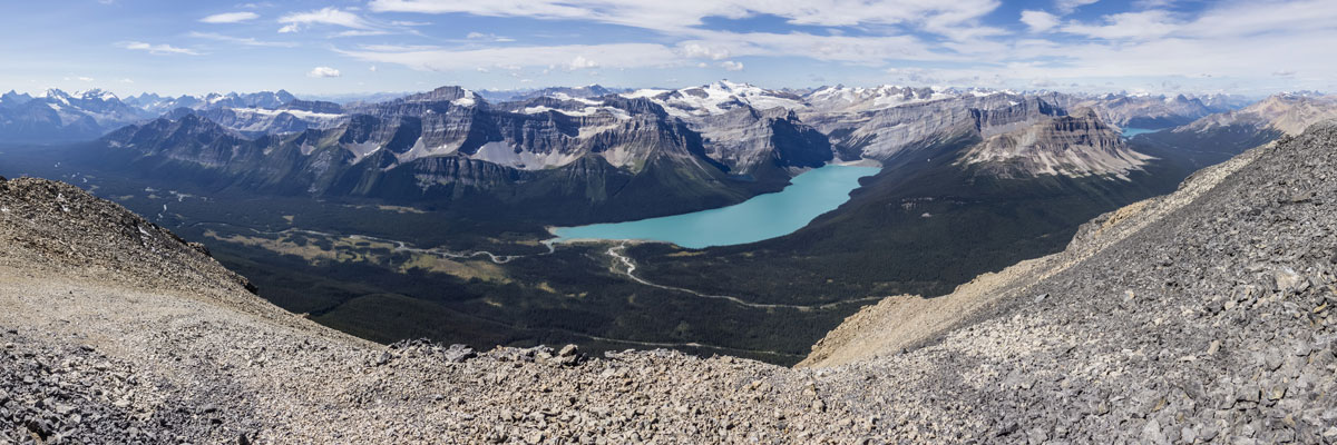 Mount Balfour on Little Hector scramble in Banff National Park