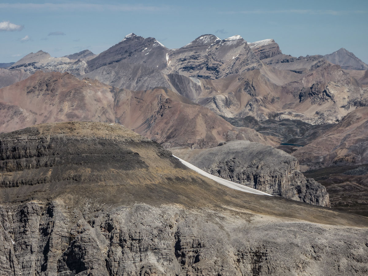 Summit views from Little Hector scramble in Banff National Park