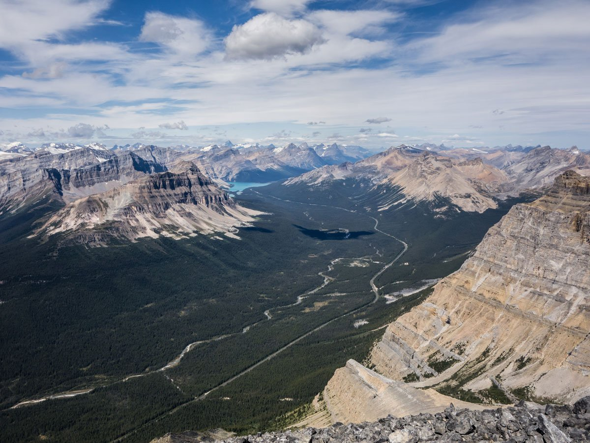 Icefields Parkway on Little Hector scramble in Banff National Park