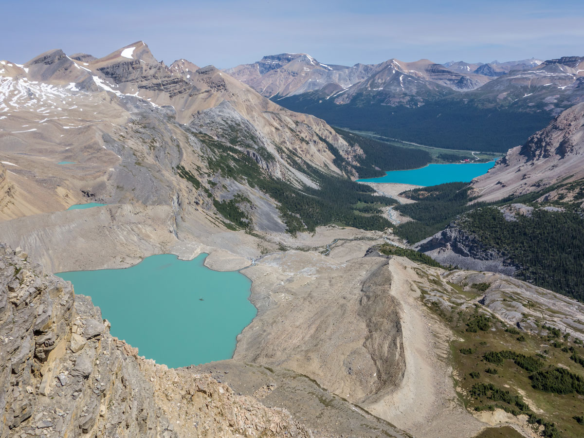 Beautiful lakes on the Onion scramble in Banff National Park