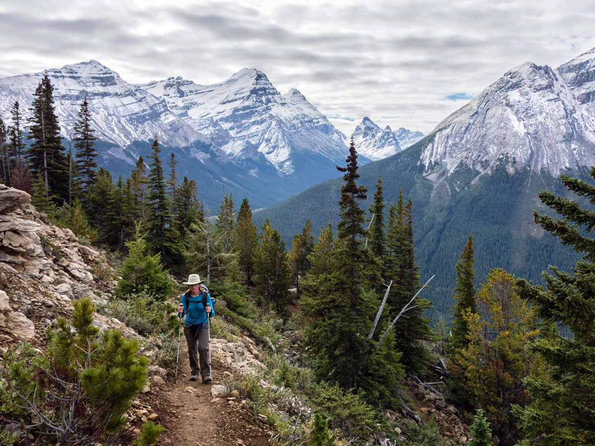 Switchbacks up to Paget Peak scramble in Banff National Park