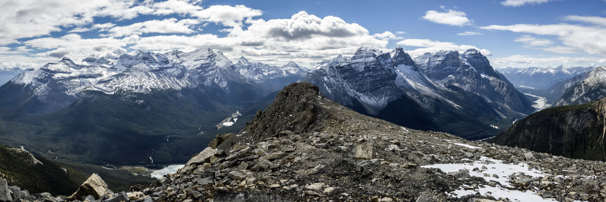 View south from Paget Peak scramble in Banff National Park