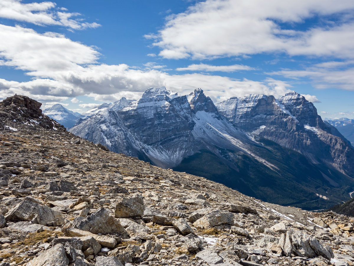 View upon Paget Peak scramble in Banff National Park
