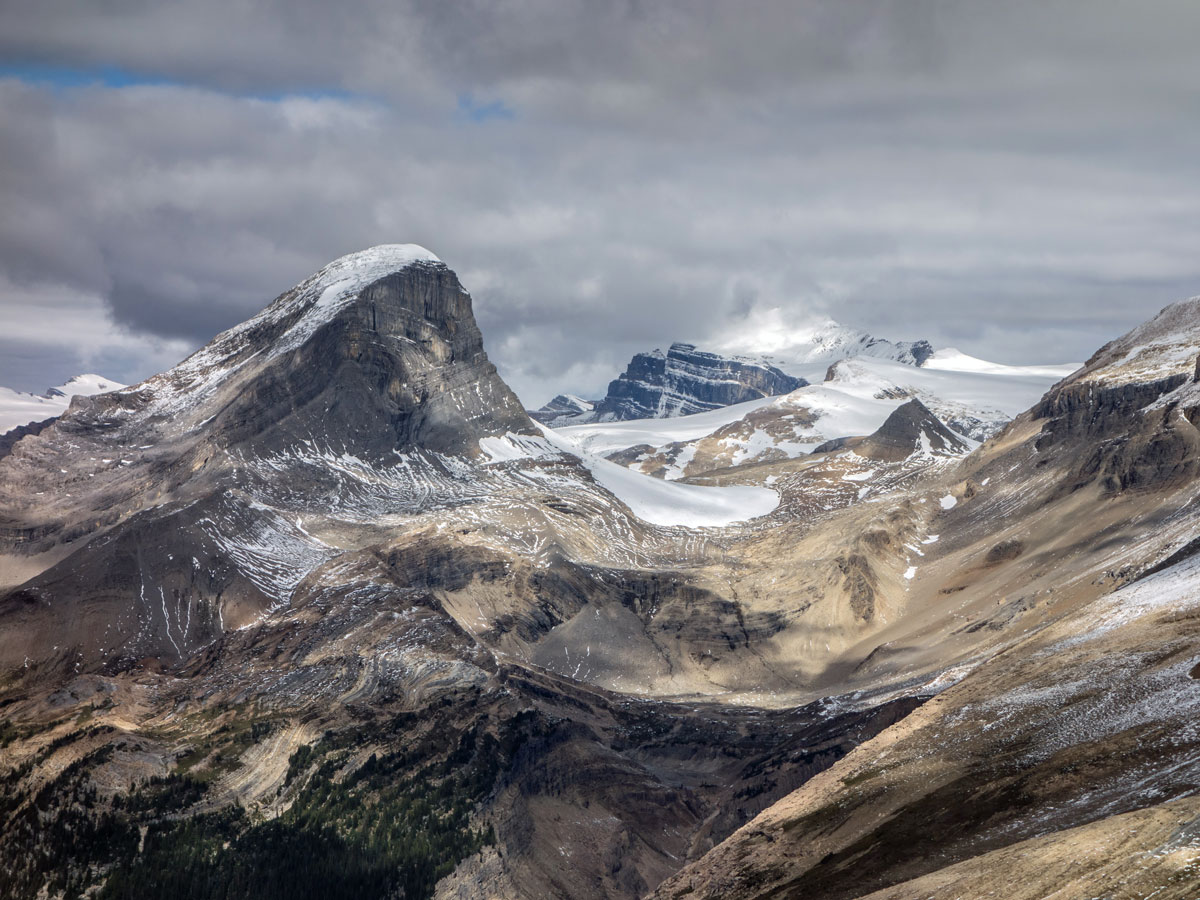 Mt Niles and Mt Daly as seen from Paget Peak scramble in Banff National Park