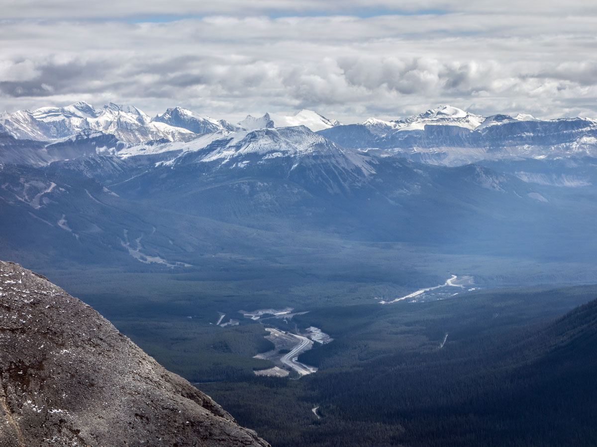 Lake Louise ski hill as seen from Paget Peak scramble in Banff National Park