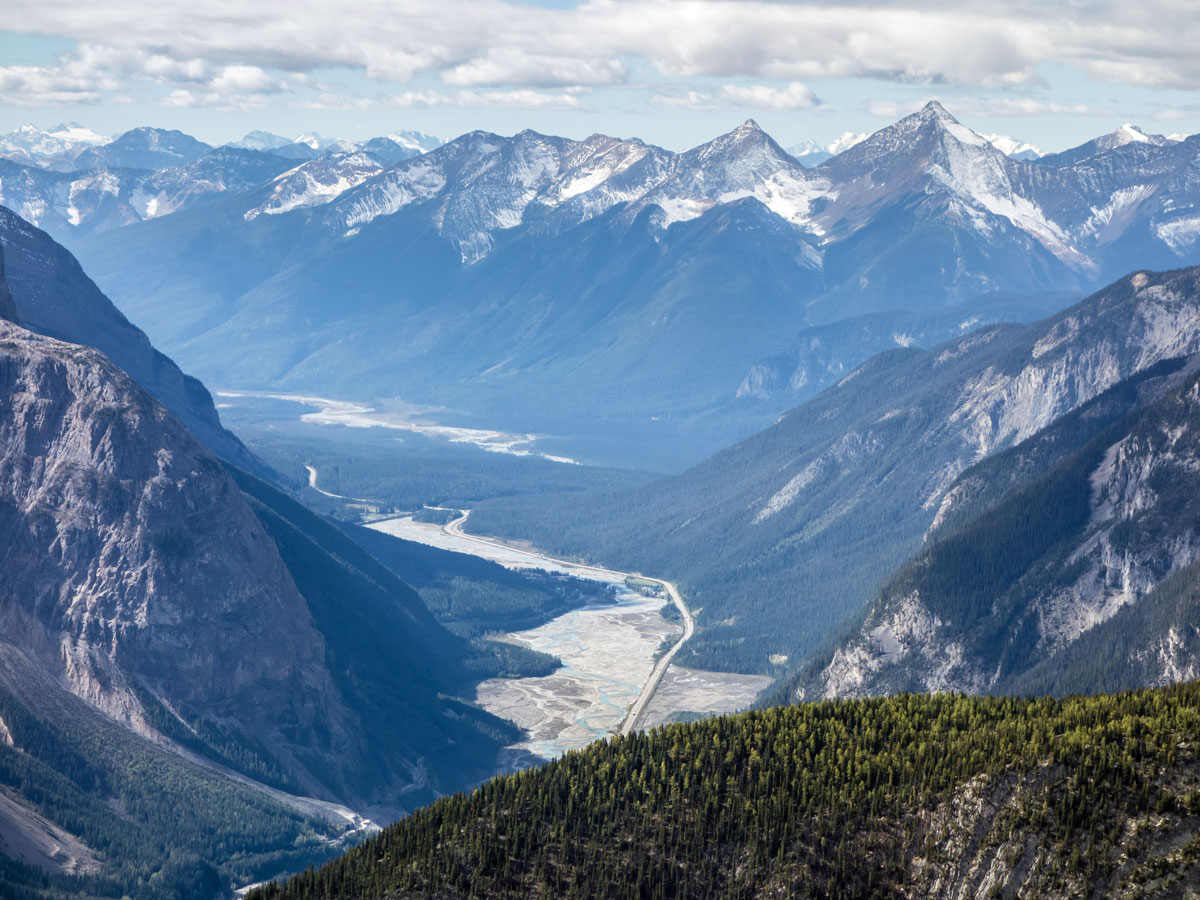 Great views from Paget Peak scramble in Banff National Park