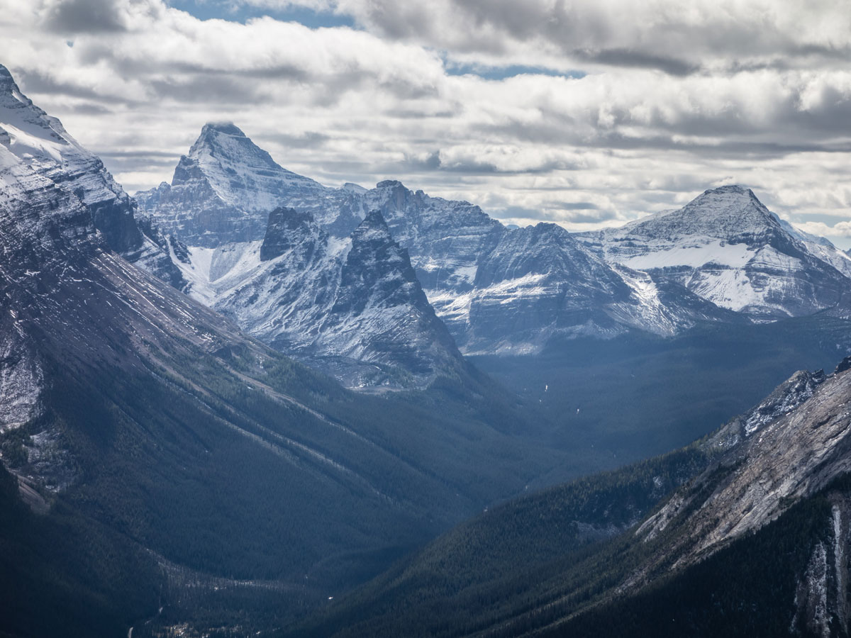 Great views on Paget Peak scramble in Banff National Park