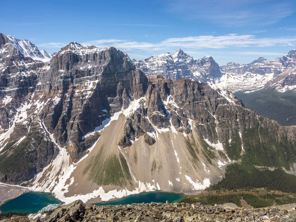 Mount Babel and the Tower of Babel on Panorama Ridge scramble in Banff National Park