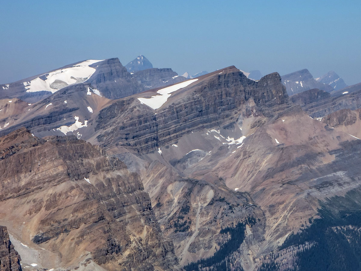 Mount Jimmy Simpson on Bow Peak scramble in Banff National Park