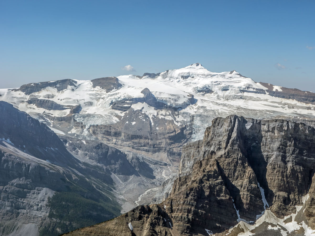 Mount Balfour from Bow Peak scramble in Banff National Park