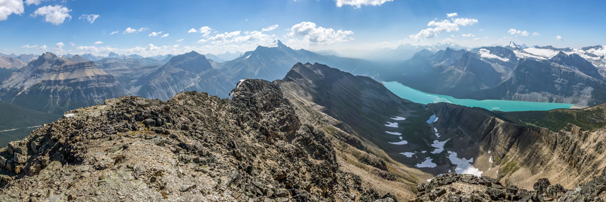 Great views from Bow Peak scramble in Banff National Park