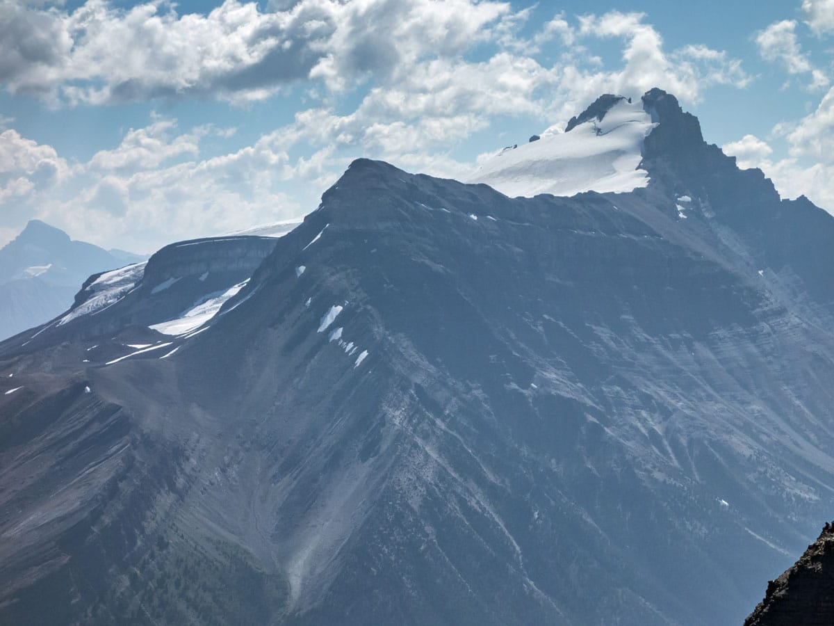 Little Hector and Mount Hector from Bow Peak scramble in Banff National Park